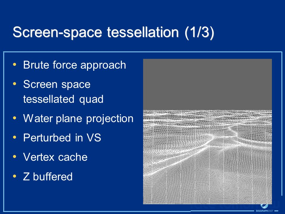 Screen-space tessellation (1/3)