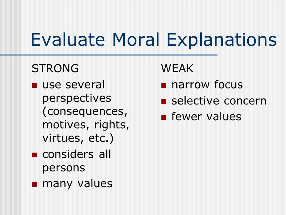 Evaluate Moral Explanations