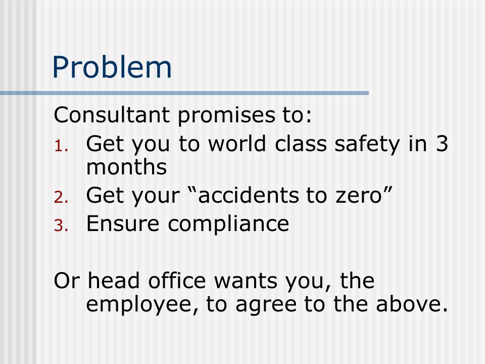 Problem Consultant promises to: