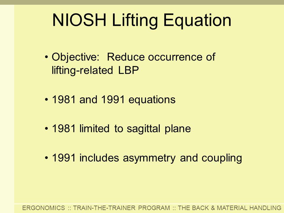 NIOSH Lifting Equation