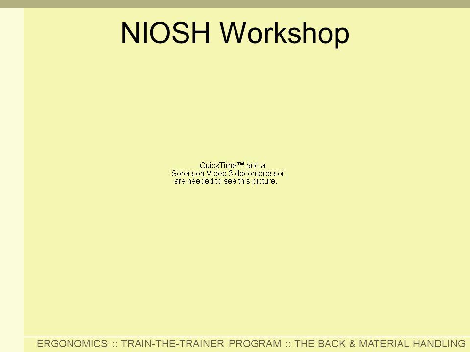 NIOSH Workshop