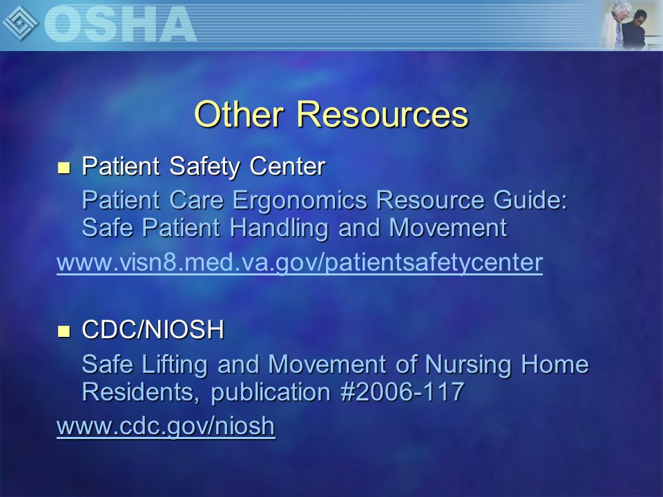 Other Resources Patient Safety Center