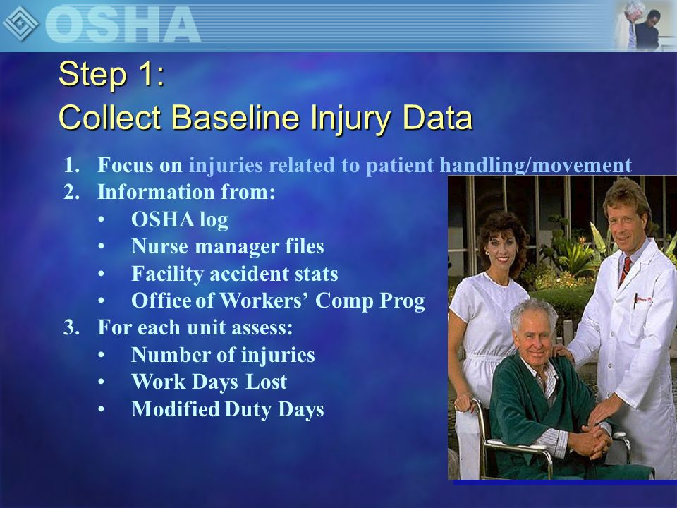 Step 1: Collect Baseline Injury Data