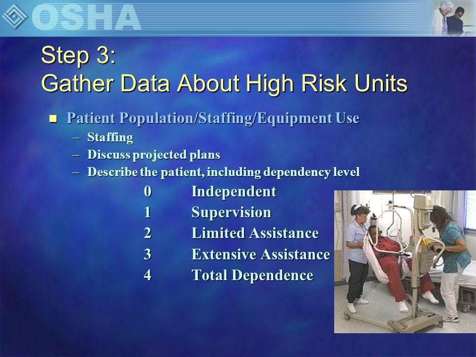 Step 3: Gather Data About High Risk Units