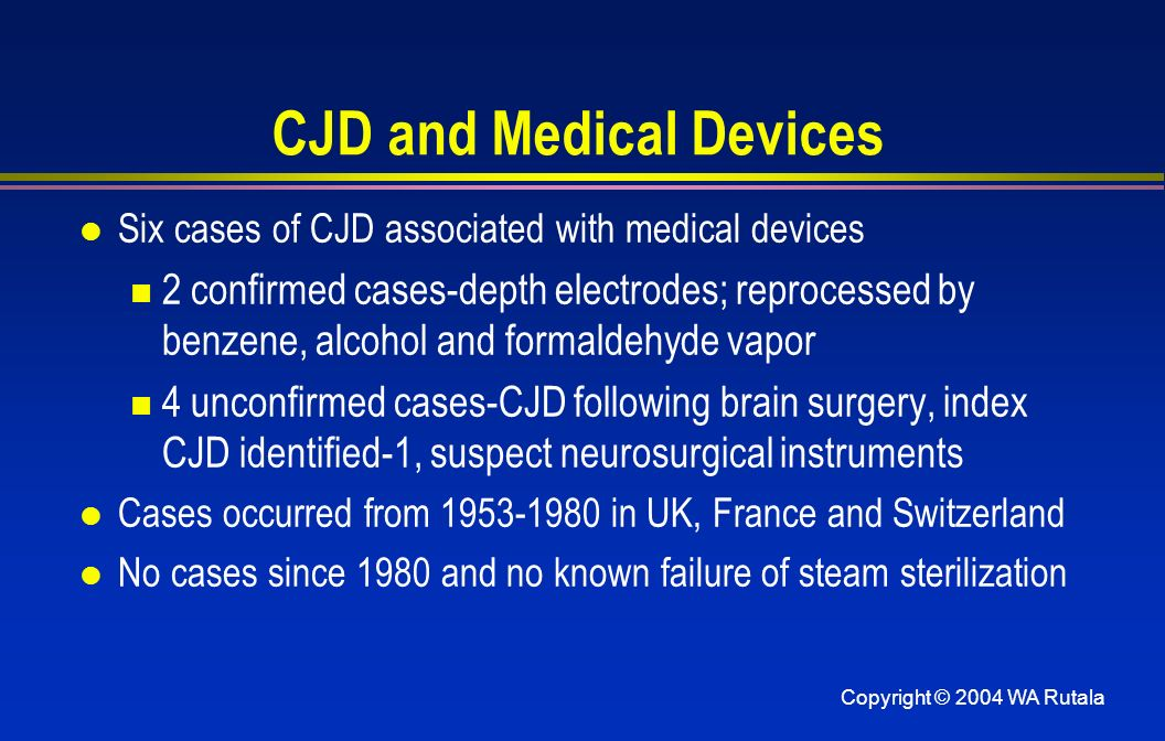 CJD and Medical Devices