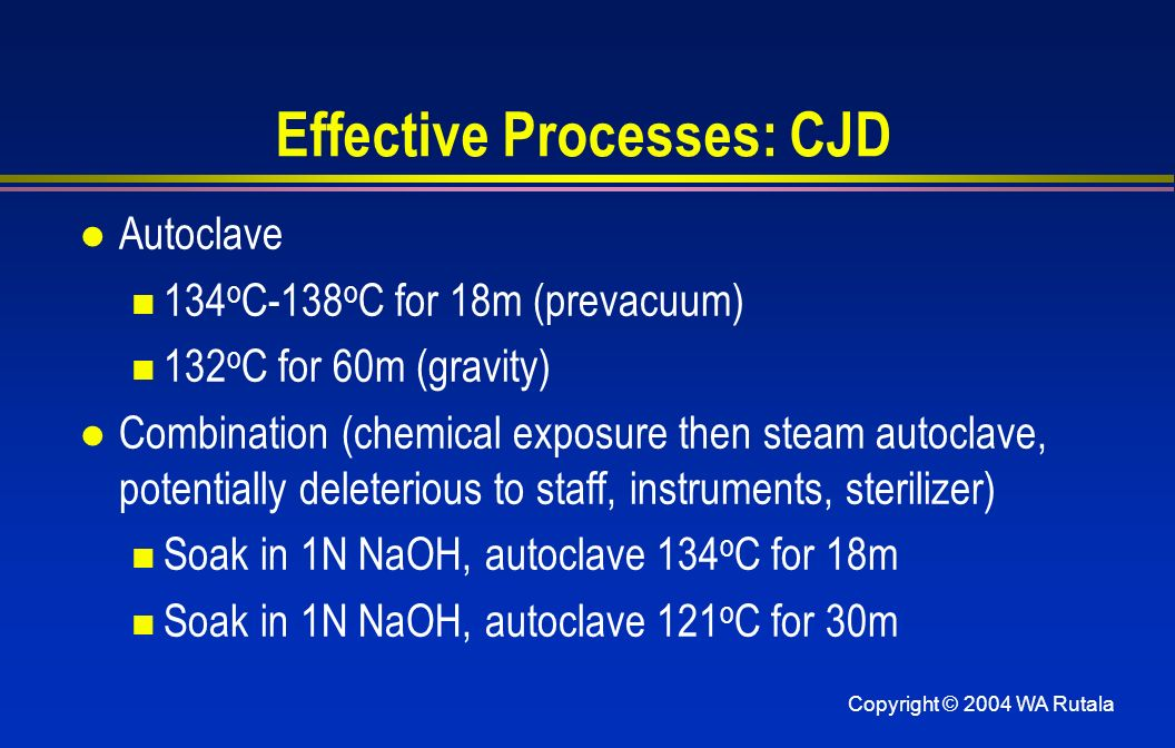 Effective Processes: CJD