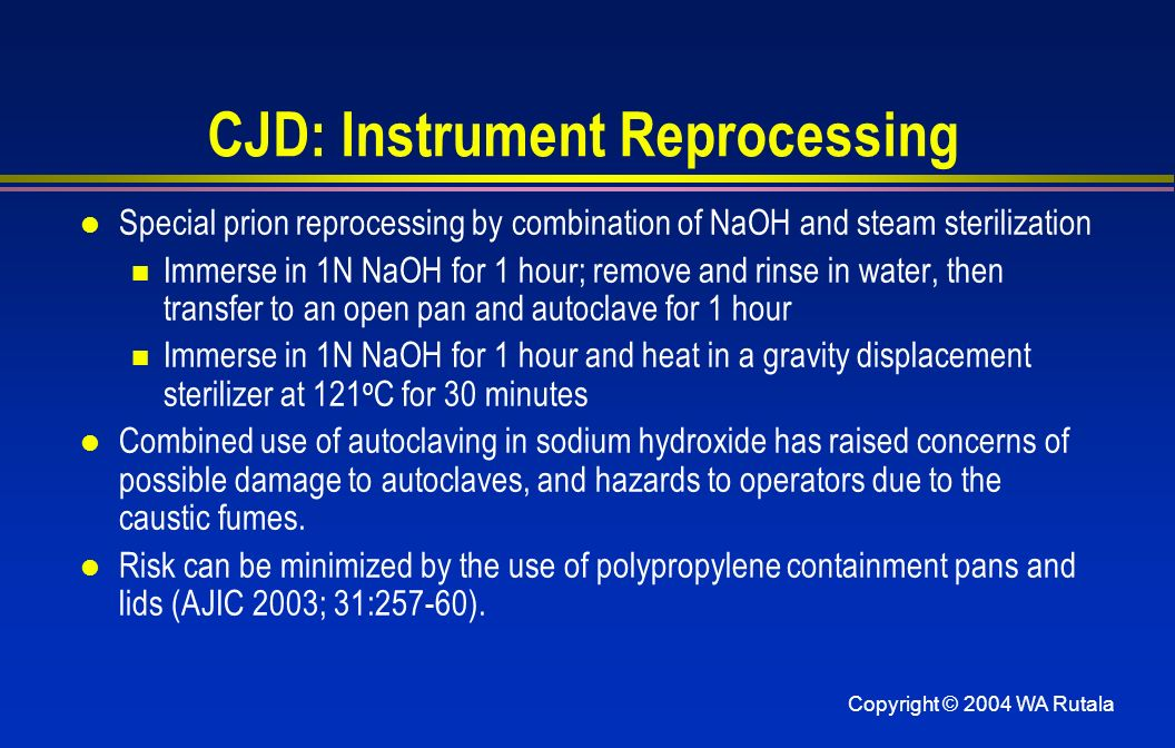 CJD: Instrument Reprocessing