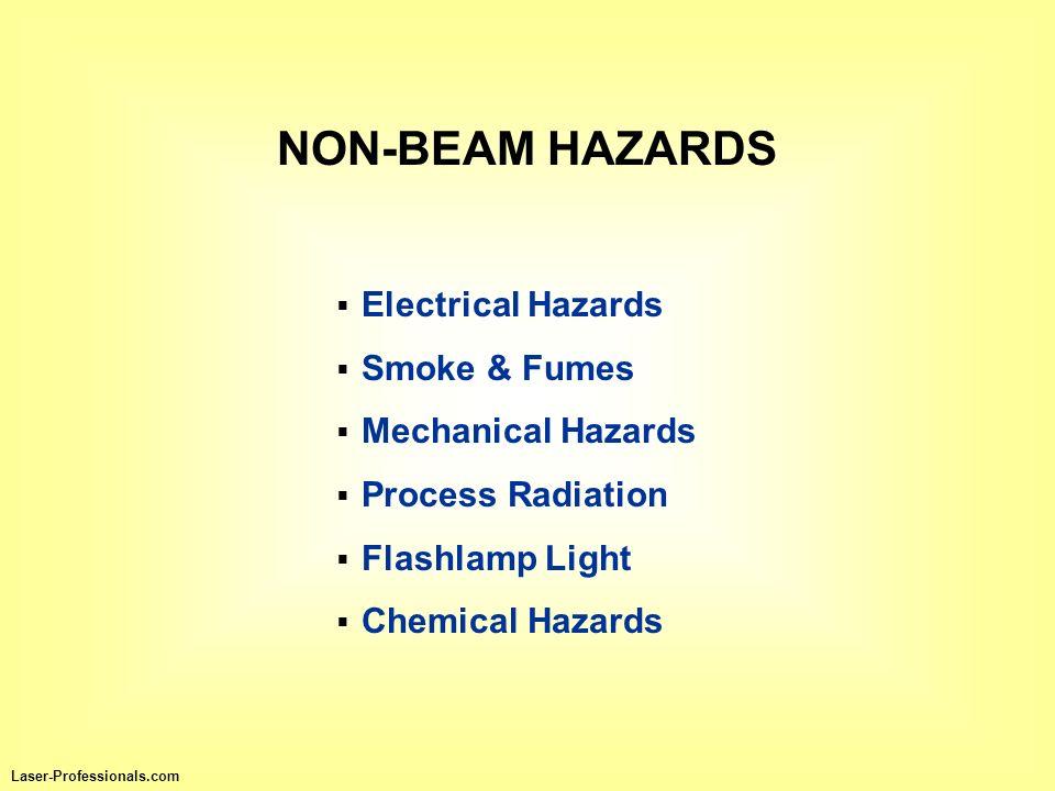 NON-BEAM HAZARDS Electrical Hazards Smoke & Fumes Mechanical Hazards