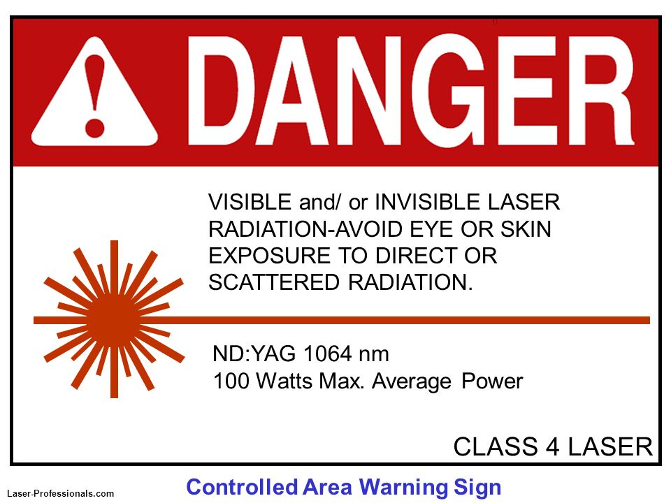 VISIBLE and/ or INVISIBLE LASER RADIATION-AVOID EYE OR SKIN EXPOSURE TO DIRECT OR SCATTERED RADIATION.