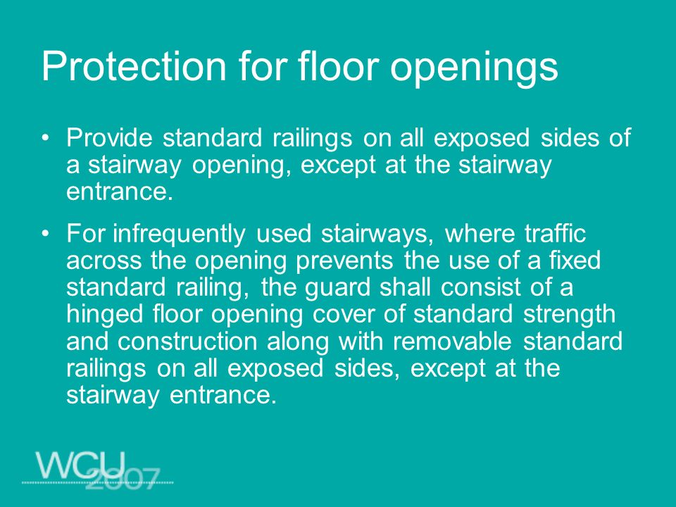 Protection for floor openings
