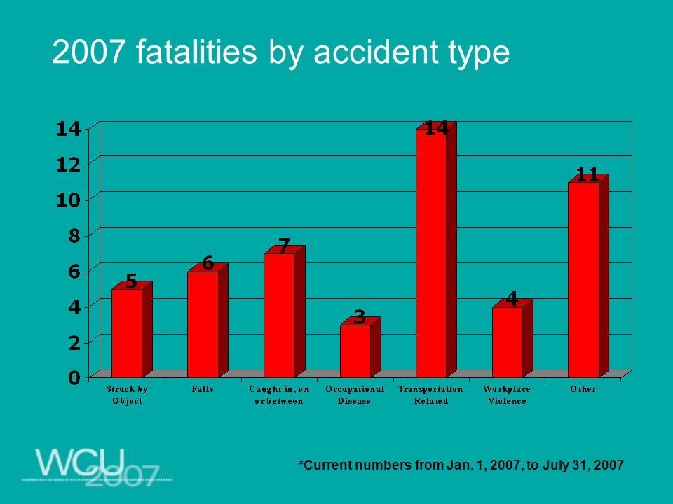 2007 fatalities by accident type