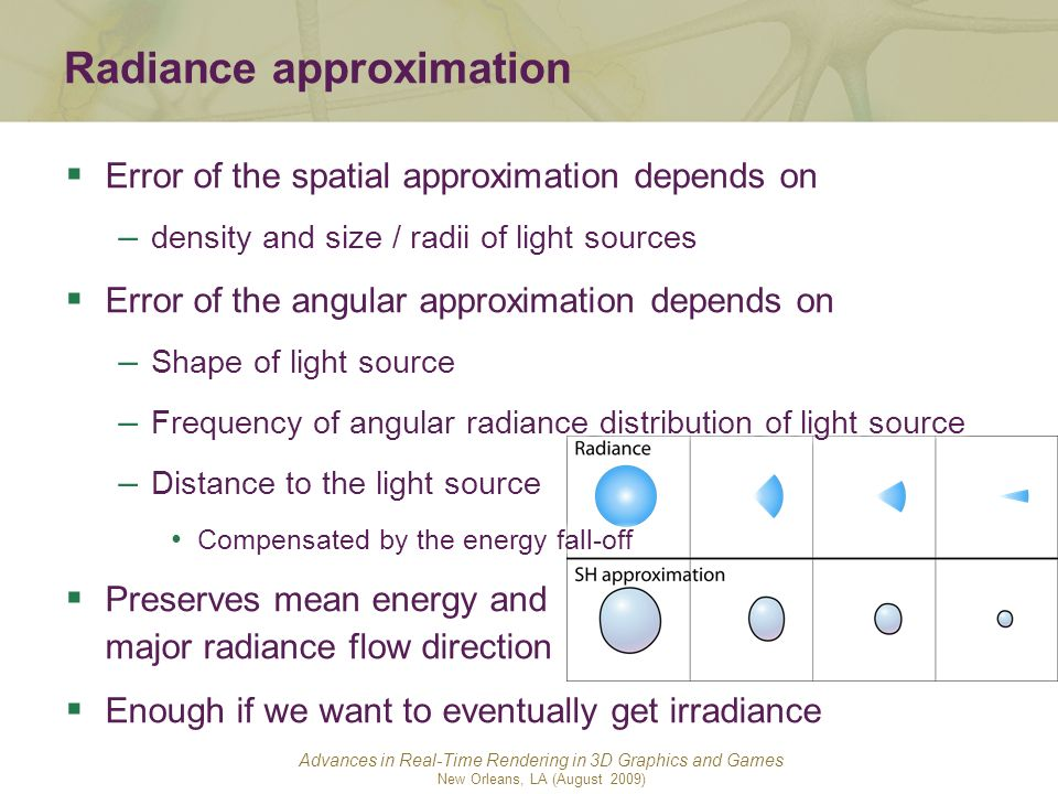 Radiance approximation