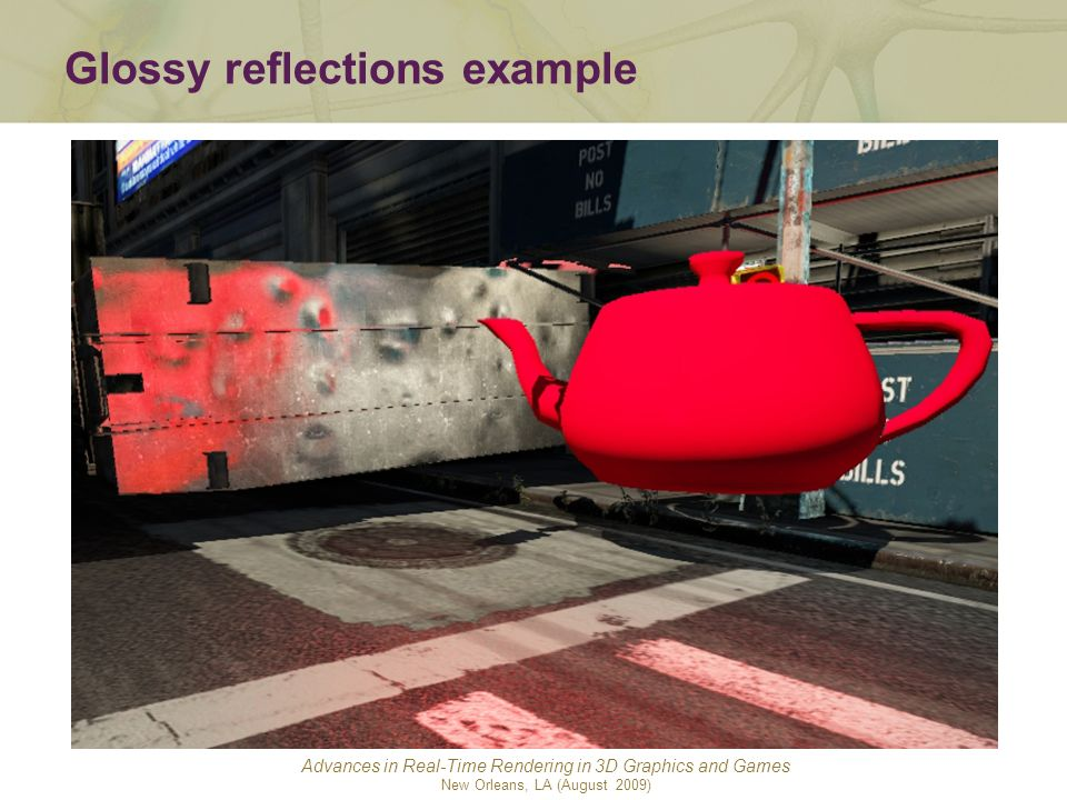 Glossy reflections example