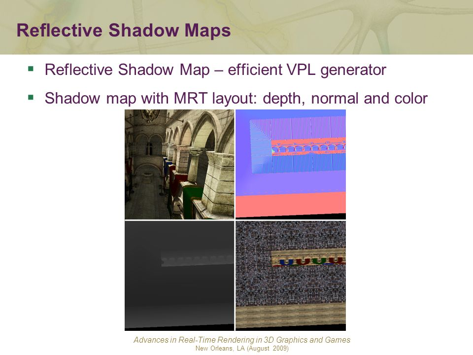 Reflective Shadow Maps