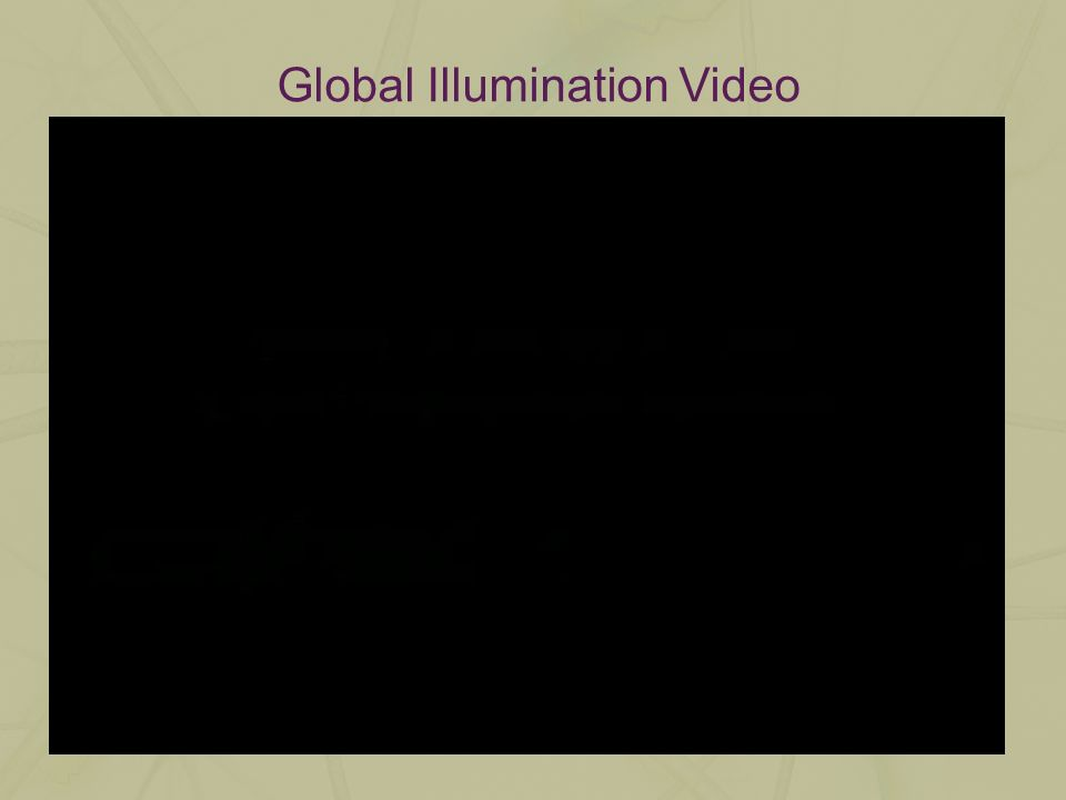 Global Illumination Video