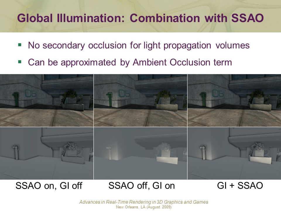 Global Illumination: Combination with SSAO
