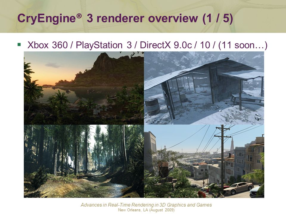 CryEngine® 3 renderer overview (1 / 5)
