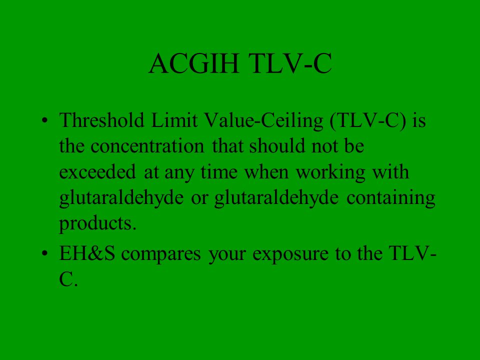 ACGIH TLV-C