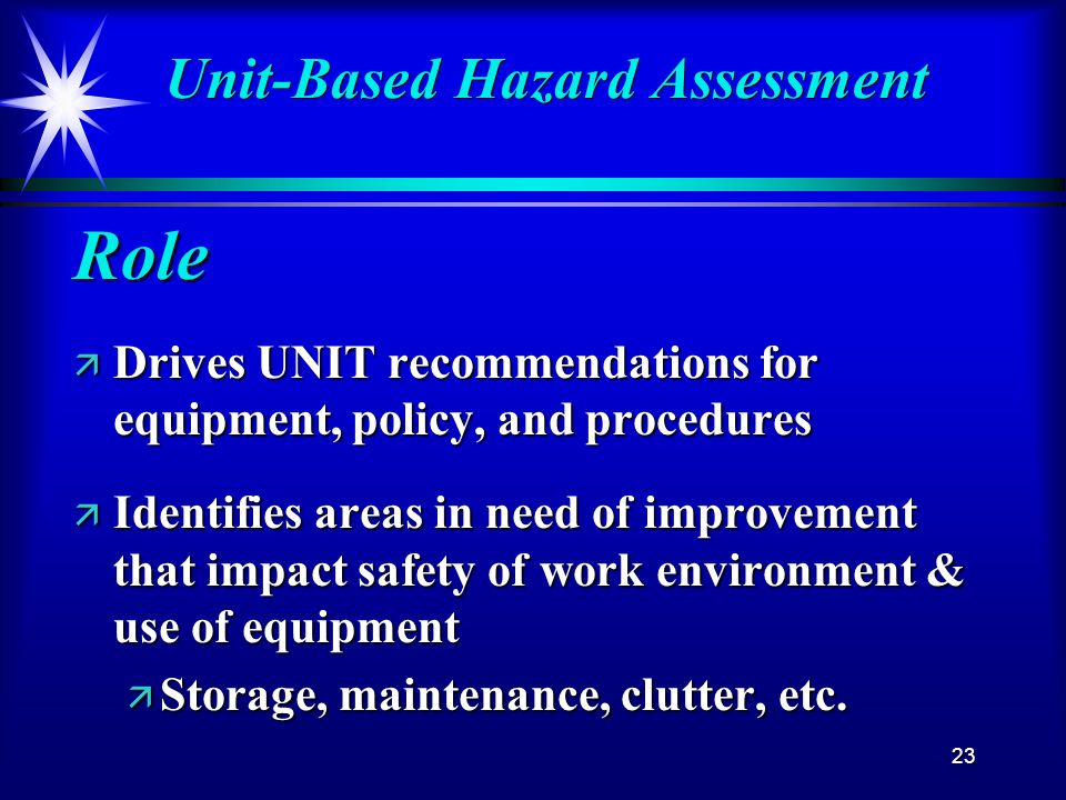 Unit-Based Hazard Assessment