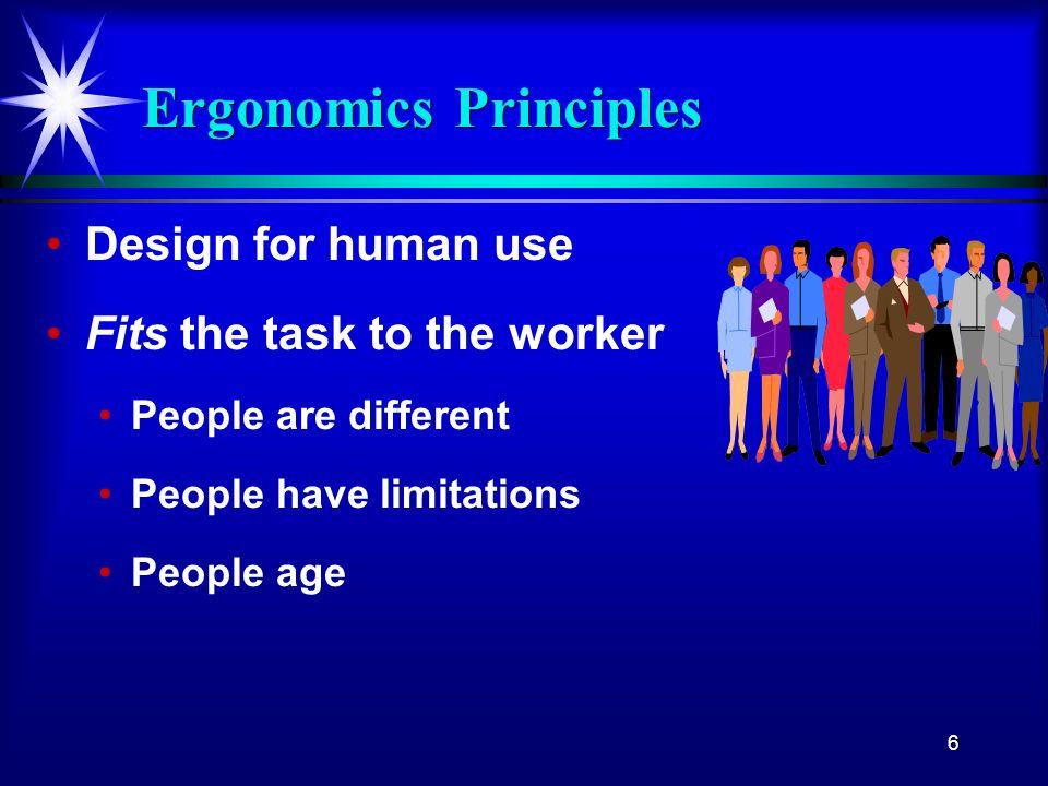 Ergonomics Principles