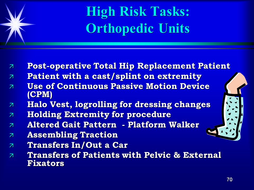 High Risk Tasks: Orthopedic Units