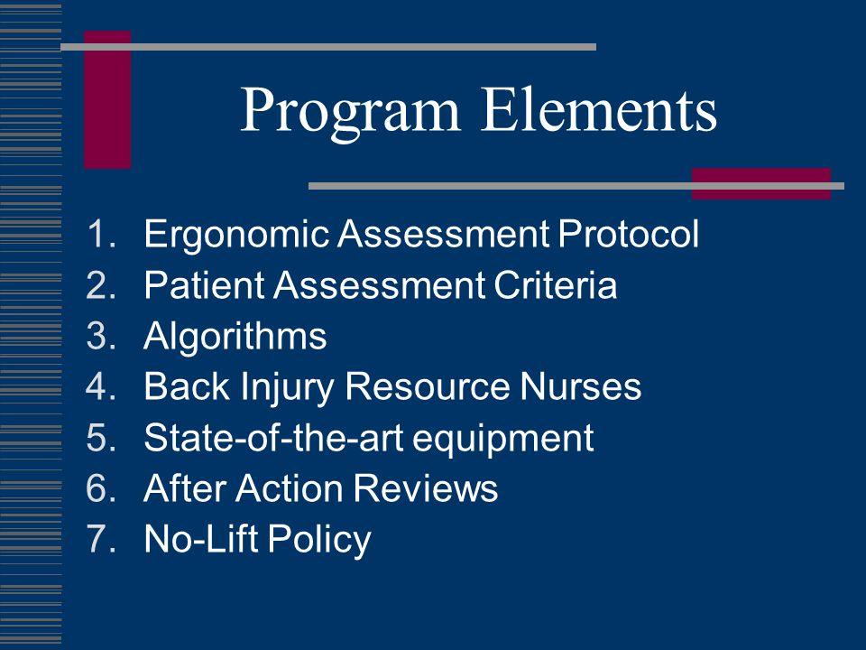 Program Elements Ergonomic Assessment Protocol