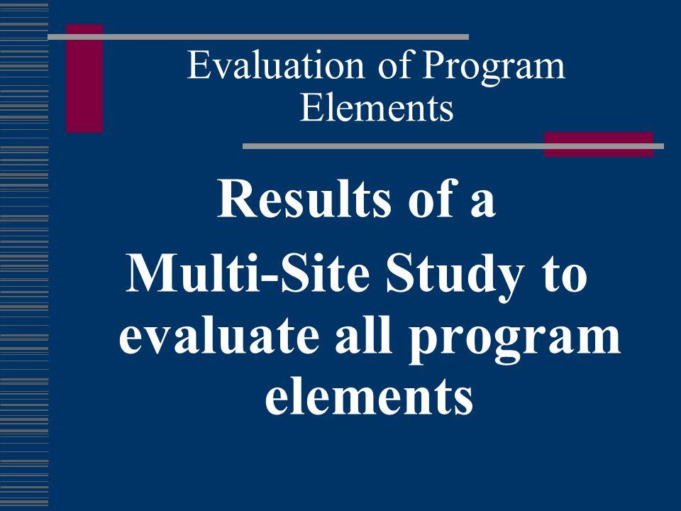 Evaluation of Program Elements