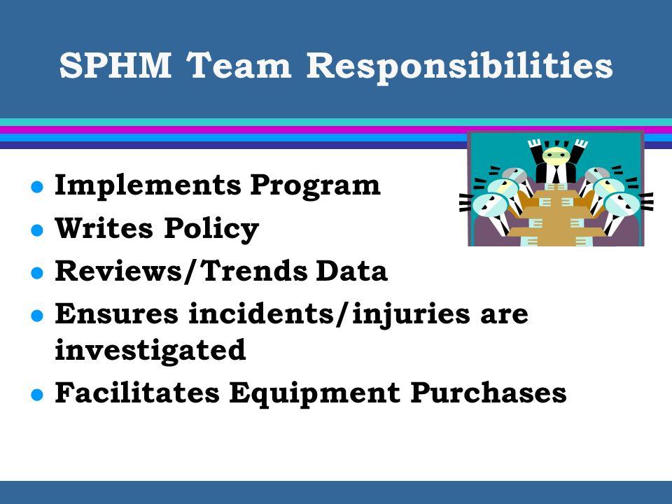 SPHM Team Responsibilities