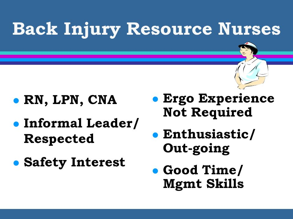 Back Injury Resource Nurses