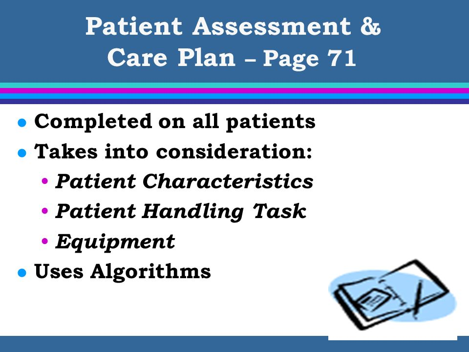 Patient Assessment & Care Plan – Page 71