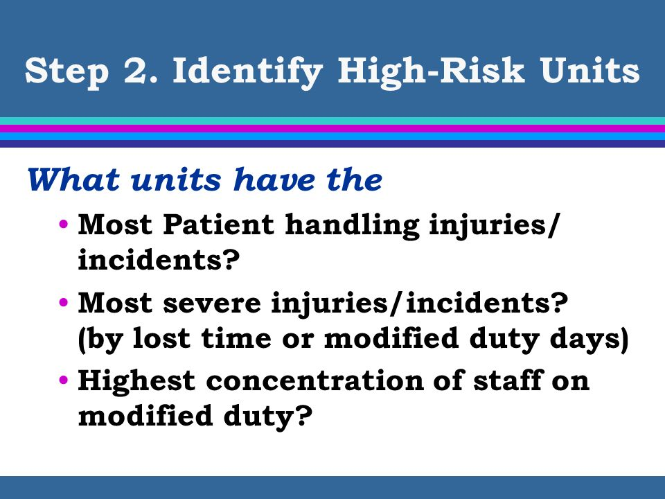 Step 2. Identify High-Risk Units
