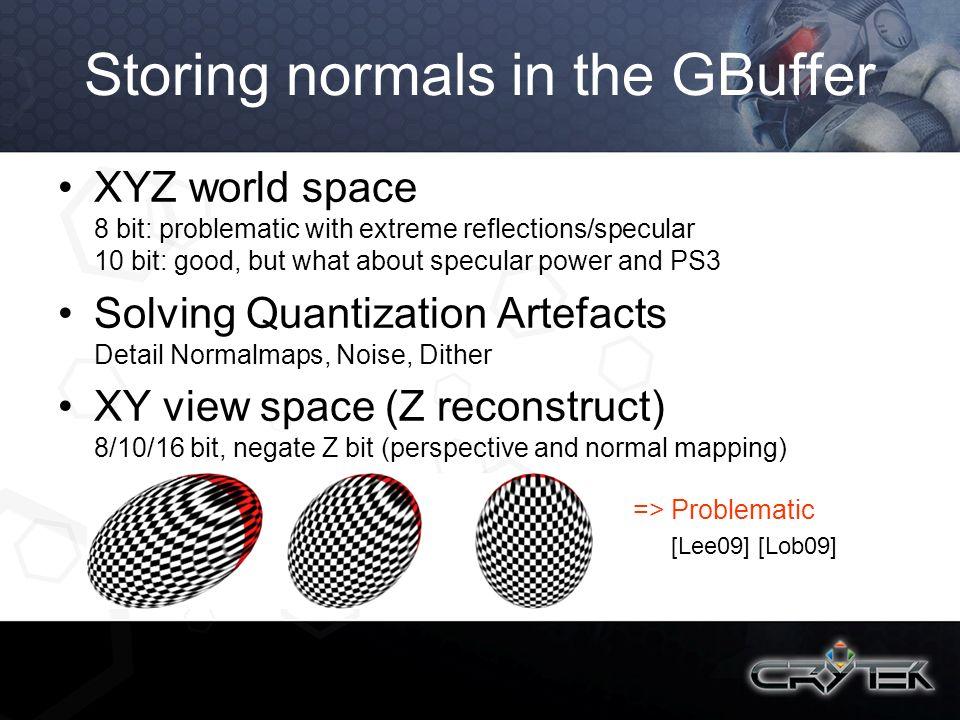 Storing normals in the GBuffer