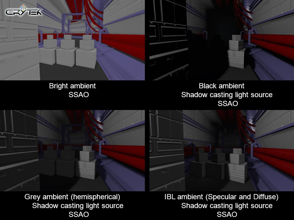Black ambient Shadow casting light source SSAO