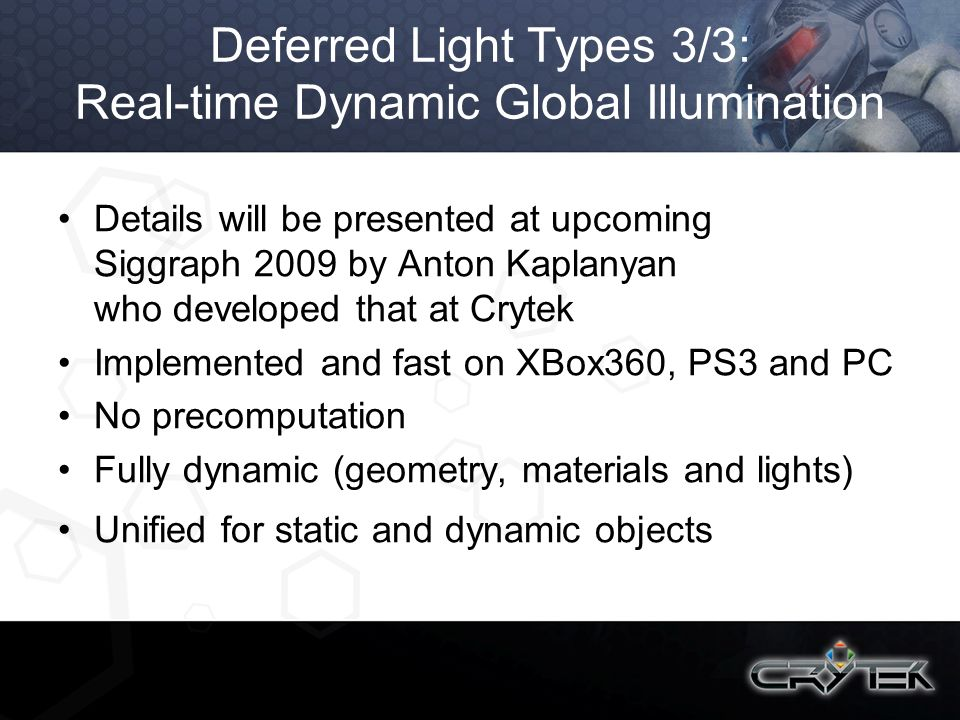 Deferred Light Types 3/3: Real-time Dynamic Global Illumination
