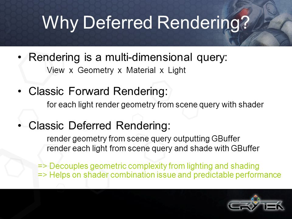 Why Deferred Rendering