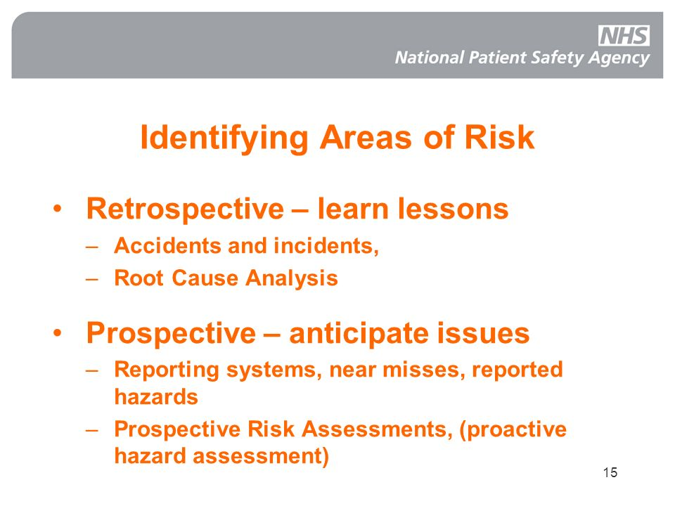 Identifying Areas of Risk