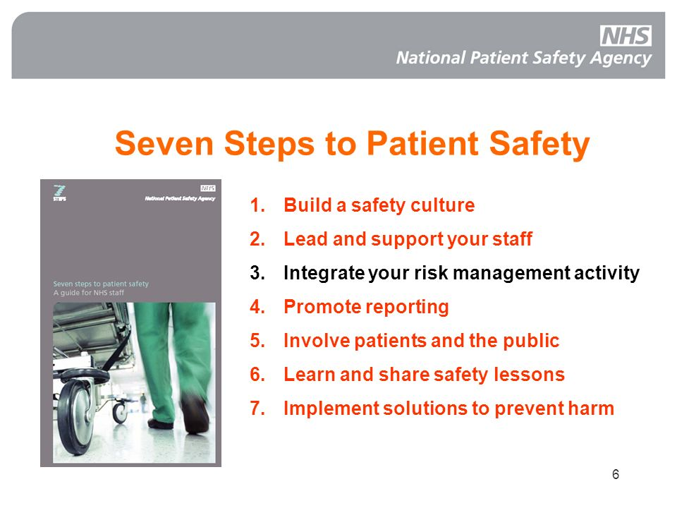 Seven Steps to Patient Safety