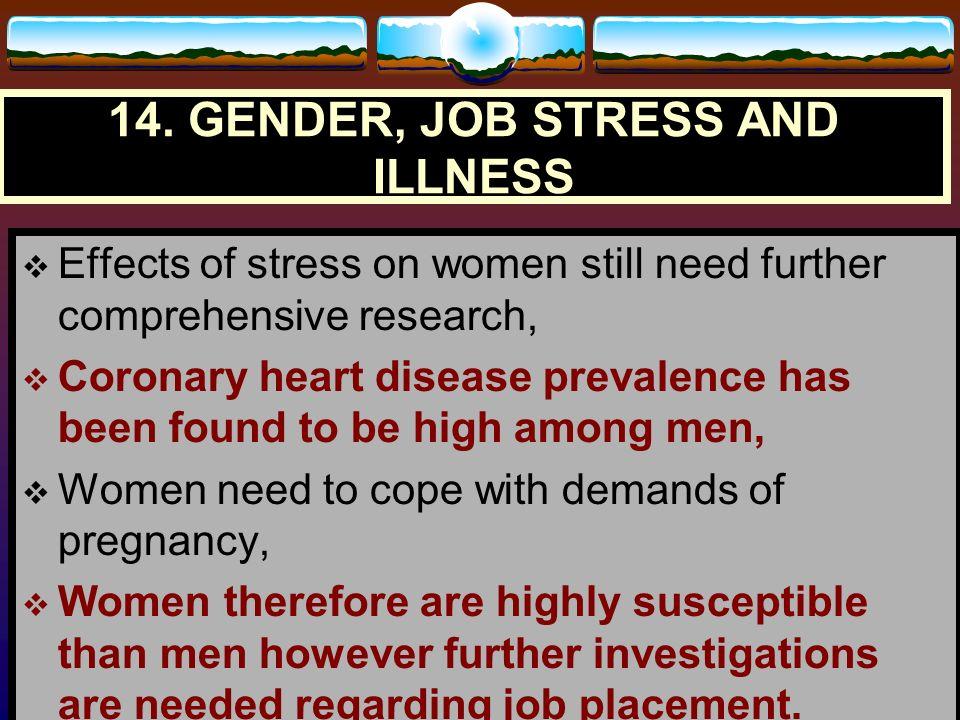 14. GENDER, JOB STRESS AND ILLNESS