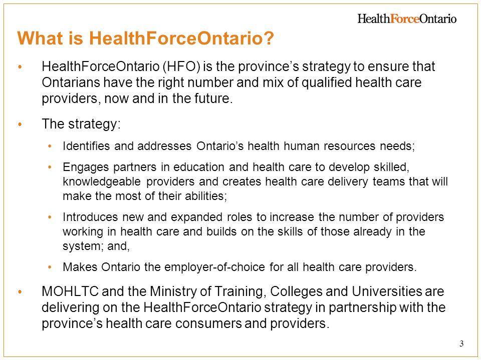 What is HealthForceOntario