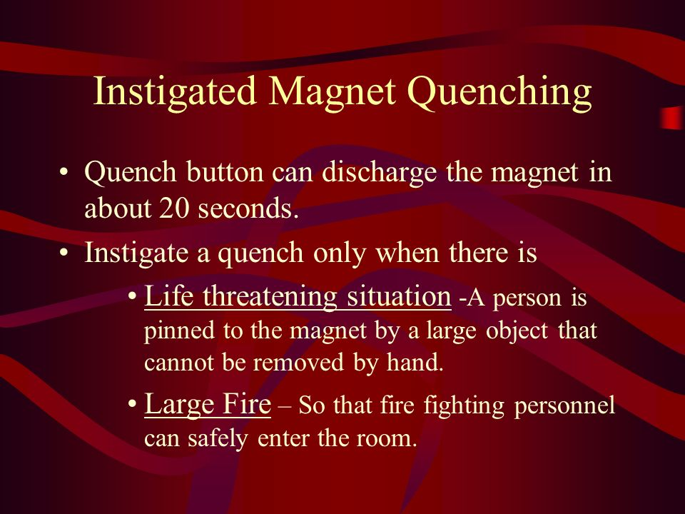 Instigated Magnet Quenching