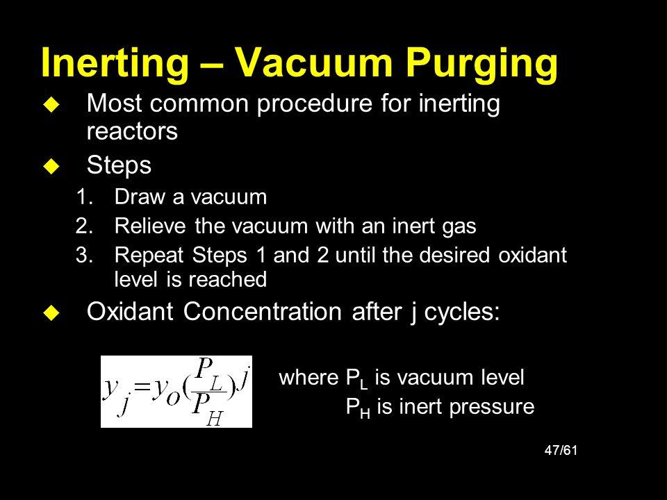 Inerting – Vacuum Purging