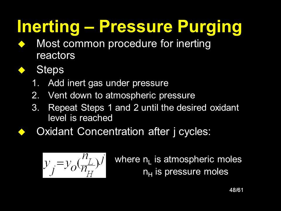 Inerting – Pressure Purging