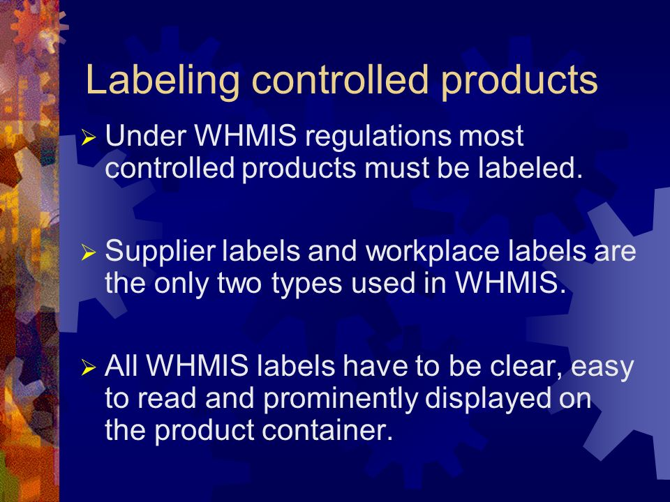 Labeling controlled products
