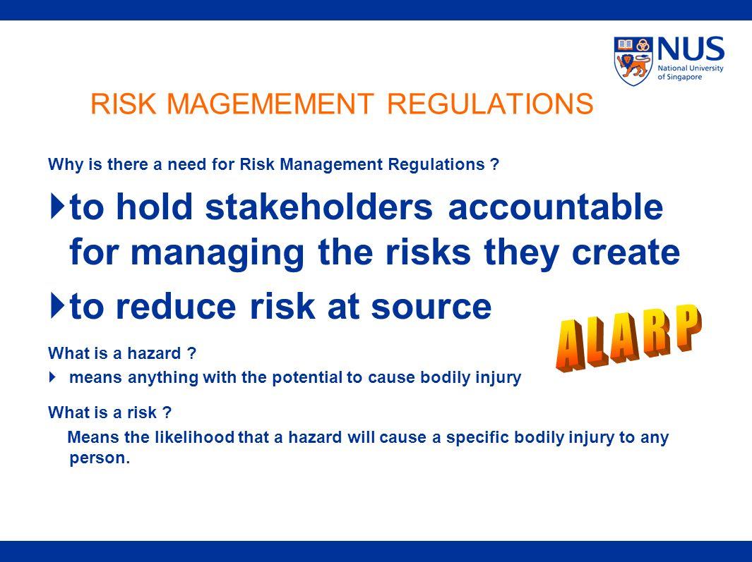 RISK MAGEMEMENT REGULATIONS