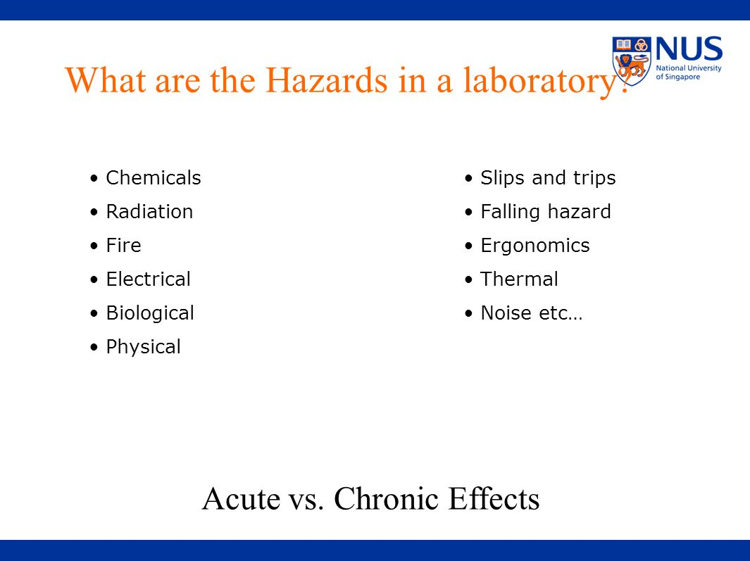 What are the Hazards in a laboratory