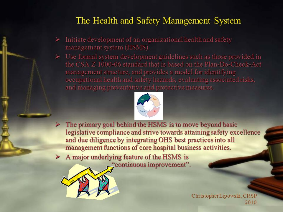 The Health and Safety Management System
