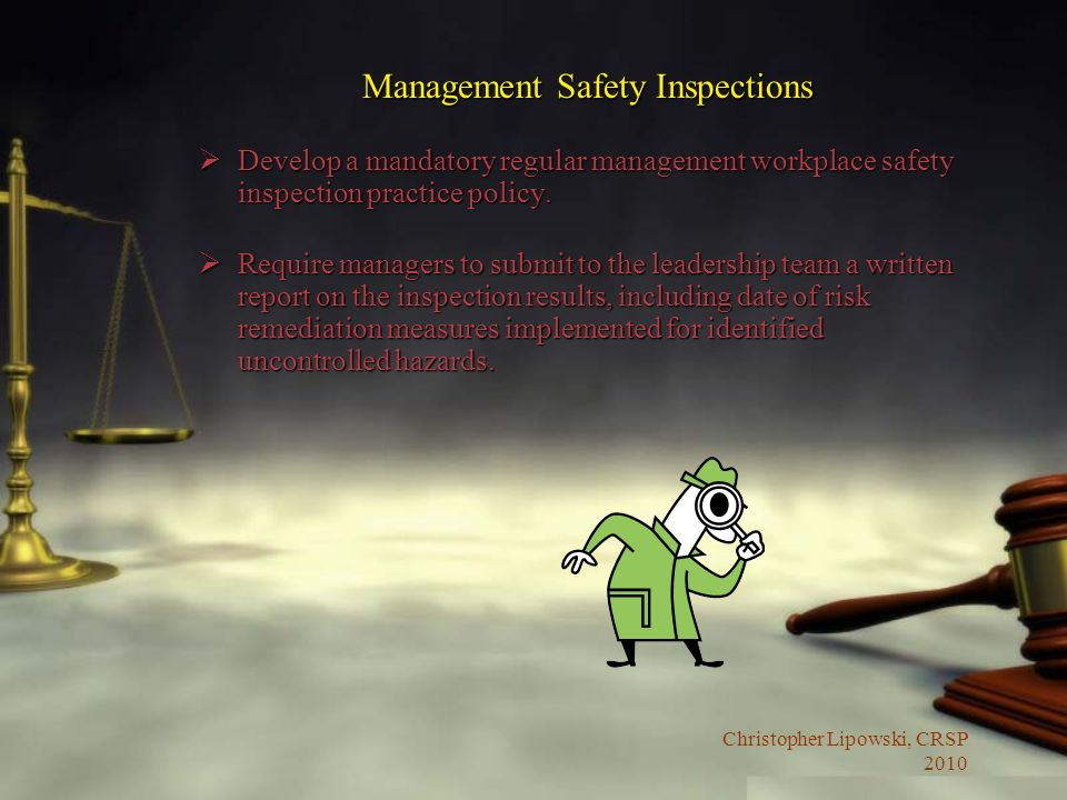 Management Safety Inspections