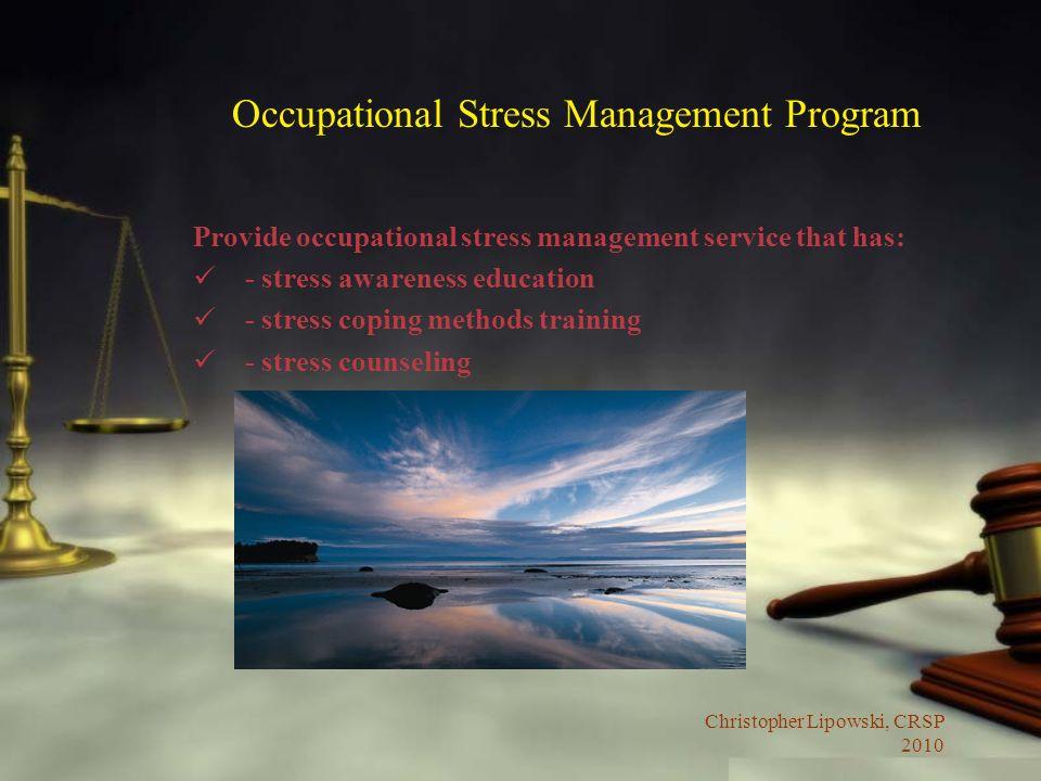 Occupational Stress Management Program