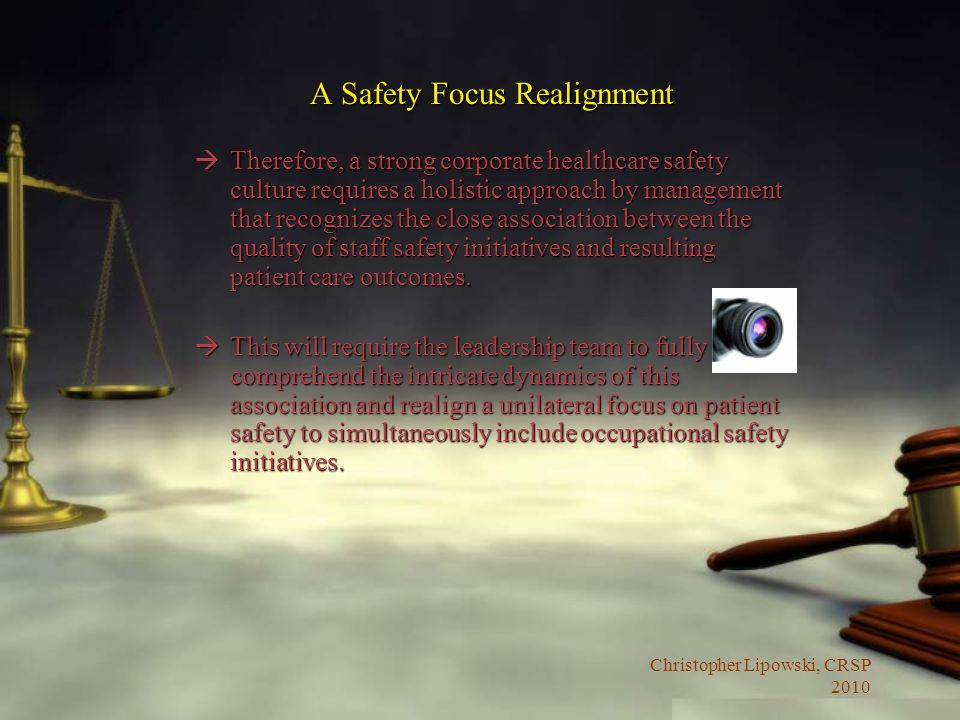 A Safety Focus Realignment