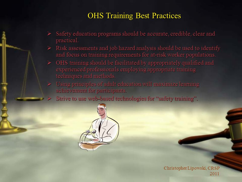 OHS Training Best Practices